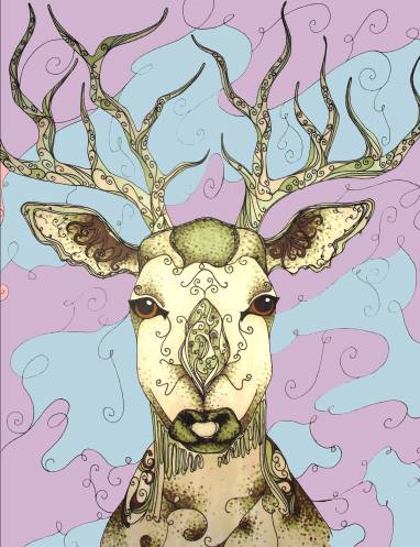 Another one of Tacha's first pieces of a stag. Her style has changed quite a lot!